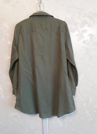 Хлопковое платье-рубашка с золотистыми пуговицами6 фото
