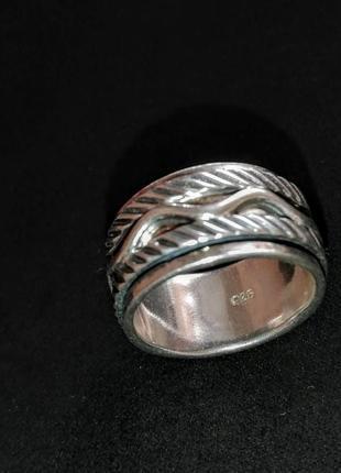 Серебряное кольцо б/у р.17 # кольцо серебряное лот 313