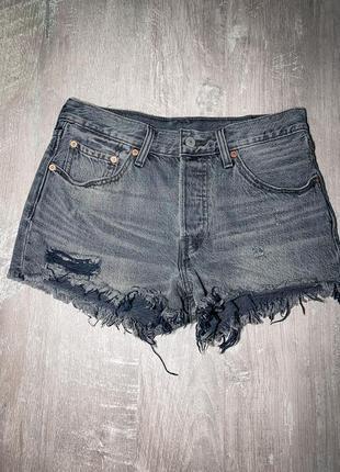 Новые джинсовые шорты levis чёрные серые оригинал w27