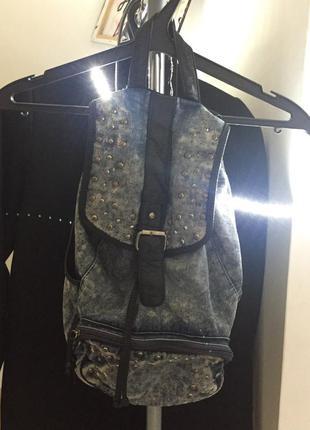 Джинсовый рюкзак new look