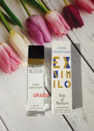 Мини парфюм  дорожная версия 40мл стойкие и шлейфовые fleur narcotique