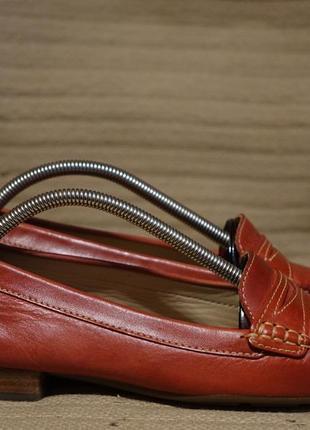 Изящные кожаные пенни лоферы терракотового цвета clarks англия 4 1/2 р.