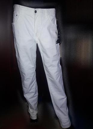 Котоновые штаны брюки джинсы белые