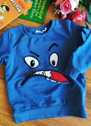 Шикарный свитер, свитшот, реглан name it на 1,5-2 года.