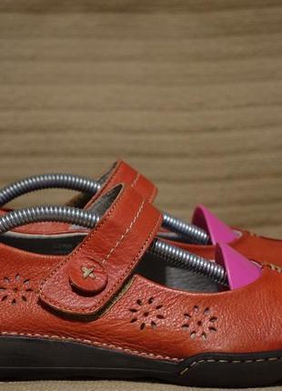 Эффектные комбинированные кожаные туфли кораллового цвета moshulu англия 38 р.