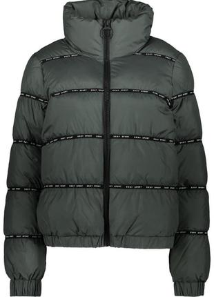 Куртка пуховик dkny с логотипом  оригинал