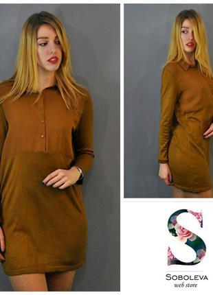 Теплое платье, верх шифоновая блуза