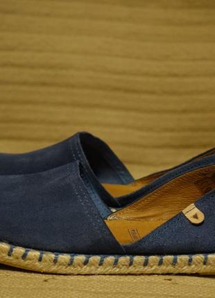 Темно-голубые замшевые эспадрильи  d'orsay verbenas испания 38 р.( 24,3 см.)