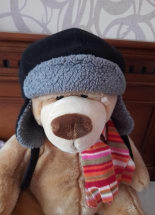 Зимняя шапка на мальчика 3-6лет.
