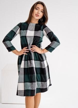 Стильное теплое шерстяное платье