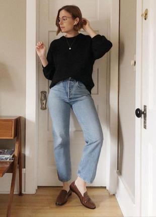 Актуальные плотные прямые джинсы lee