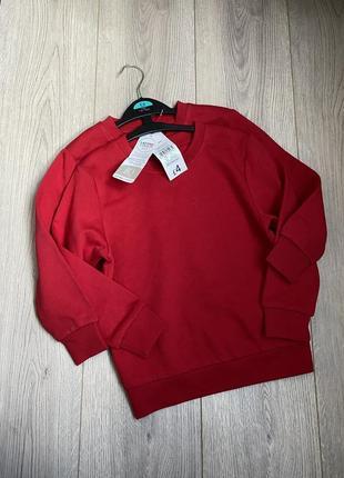 Красный свитшот 5-6 лет новый george
