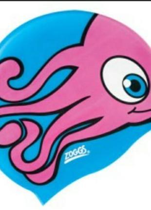 Шапочка для плавання zoggs от 2 до 8 лет детская для бассейна
