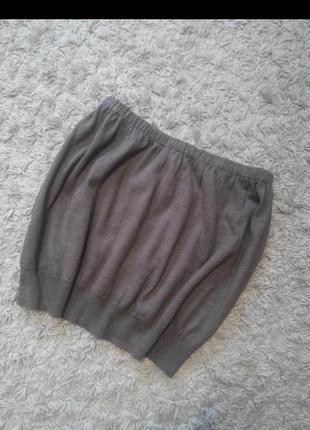 Шерстяная юбка-баллон