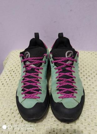 Замшевые трекинговые кроссовки scarpa gore-tex