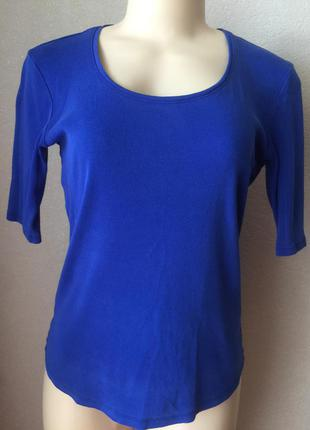 Стильная синяя футболка блузка цвет электрик размер м