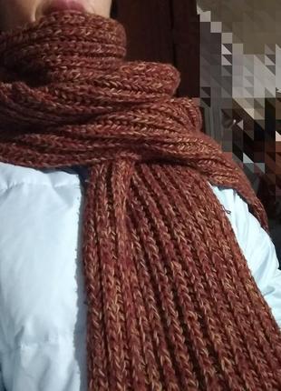 Большой базовый шарф грубый