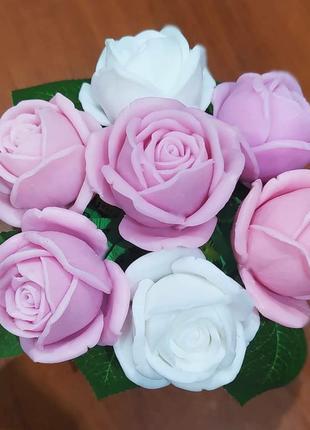 Букет роз из мыла ручной работы