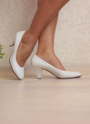 Кожаные италийские туфли лодочки, натуральная кожа, бренд franco visconti 40,5