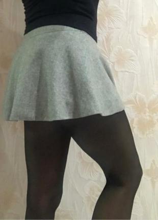 Классная шерстяная юбка р. 42-44