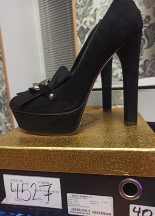 Новые шикарные замшевые туфли