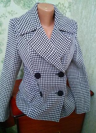 Новое брендовое тёплое пальто гусиная лапка, размер 12-14