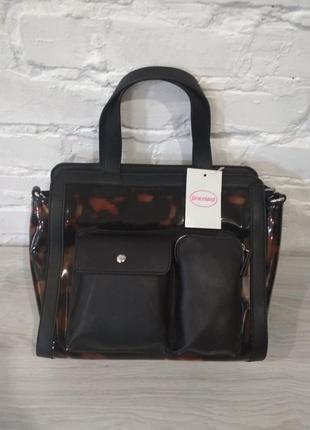 Крутая сумка! стильная  лакированная  вместительная сумка от бренда  graceland (германия).