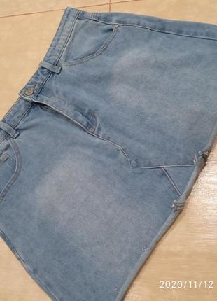 Летняя джинсовая юбка от denim co, размер 14