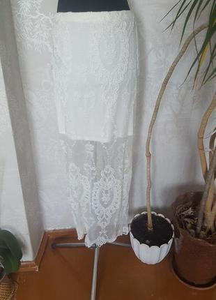 Шикарная кружевная длинная юбка, распродажа фирменных вещей