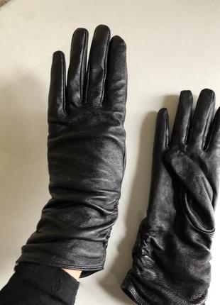 Кожаные перчатки 🖤primark 100% кожа