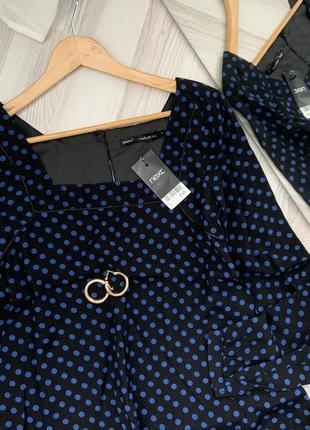 Платье свободный крой в горох2 фото