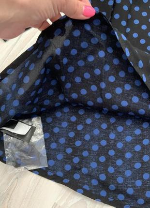 Платье свободный крой в горох4 фото