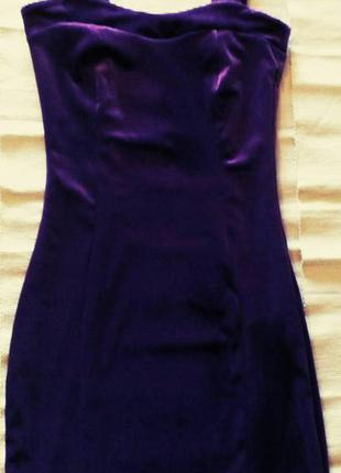 Платье фиолетовый бархат .
