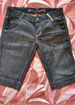 Джинсы бриджи капри джинсовые, размер 28 (34)