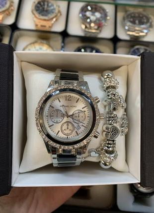 Набор: женские часы и браслет