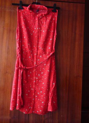 Женское платье-халат, р. 12, e vie бу