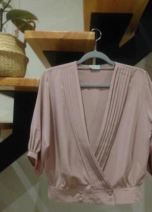 Винтажная блуза 80-х цвет