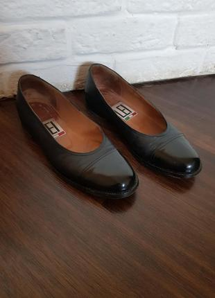 Туфли лодочки италия кожа vero cuoio