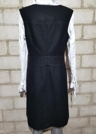 Шерстяное платье-футляр сарафан офис деловой стиль4 фото