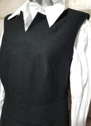 Шерстяное платье-футляр сарафан офис деловой стиль2 фото