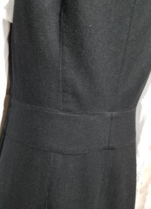 Шерстяное платье-футляр сарафан офис деловой стиль6 фото