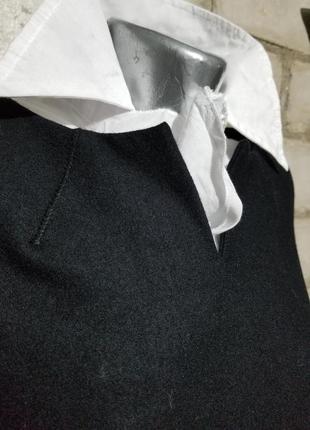 Шерстяное платье-футляр сарафан офис деловой стиль3 фото