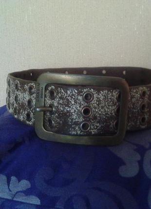 Фирменный штатовский кожаный ремень-пояс из натуральной кожи chasin denim