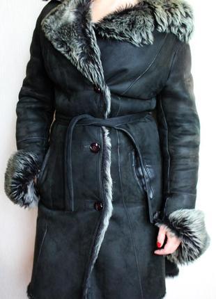 Дублёнка зимняя натуральная кожа лама замша!