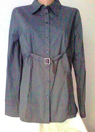 Стильная рубашка туника наш 46-48р-р хлопок 98% kappahl цвет антрацитовый