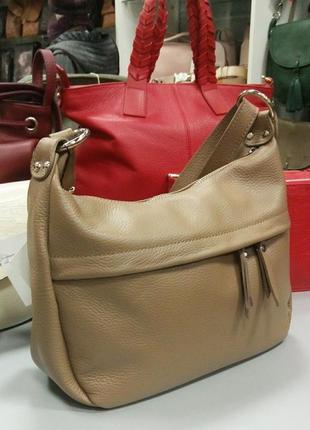 Кожаная сумка на длинном ремне шкіряна сумка клатч кроссбоди