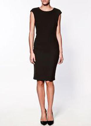 Черное платье миди от zara