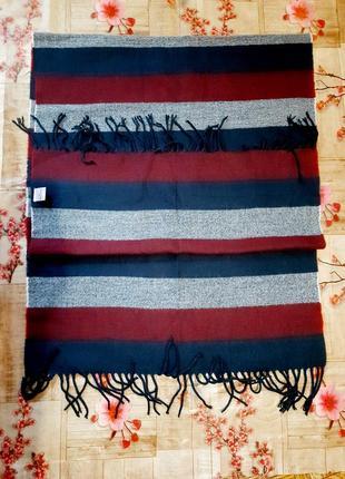 Шикарный шарф палантин теплый зимний плед