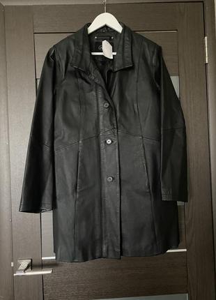 Кожаный плащ/пиджак
