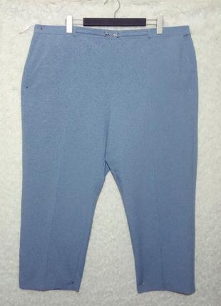 Стильные голубые брючки с карманами 24р